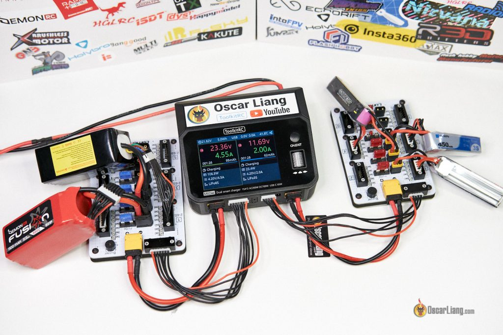 ToolkitRC M6DAC LiPo Charger parallel charging