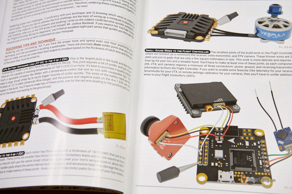 Flight Dynamics book preview soldering connection