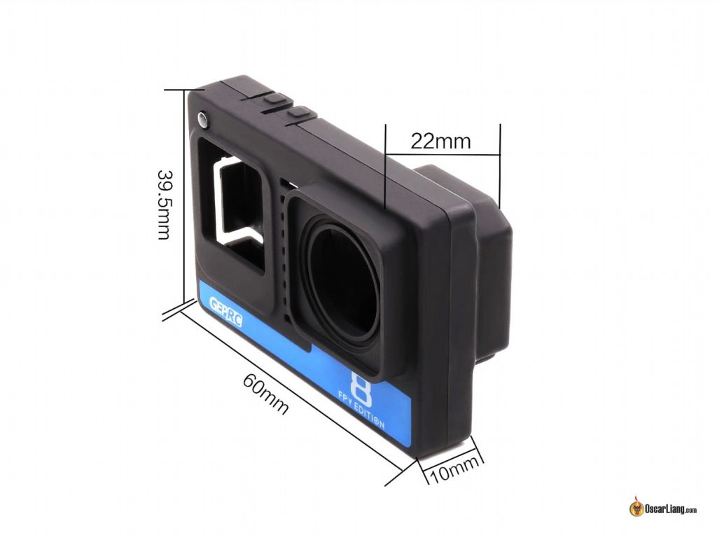 GEPRC Naked GoPro 8 Case dimension size length width height