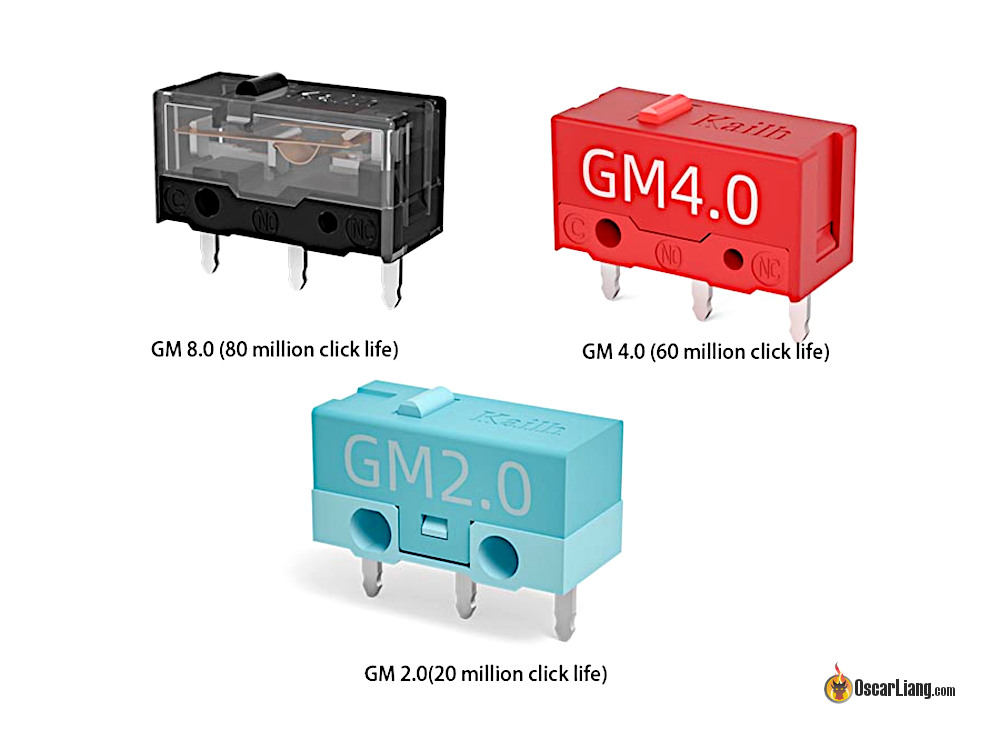 Mouse Micro Switch Kailh Gm8.0 Gm4.0 Gm2.0 Red Teal Grey